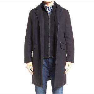 NWT Cole Haan | Twill Bibby Overcoat Coat